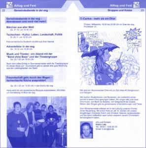 Semesterprogramm der ESG, Braunschweig
