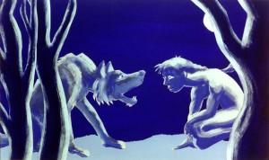 Mogli und der Wolf