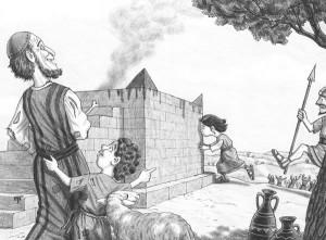 Die emanzipierte Rebecca küßt den Opferstein