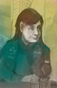 Meine Mitsängerin Birgit in Farbe