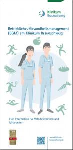 Cover von Folder des Klinikums Braunschweig zum Thema Gesundheitsmanagement