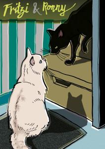 Das Katzenpaar Fritzi und Ronny