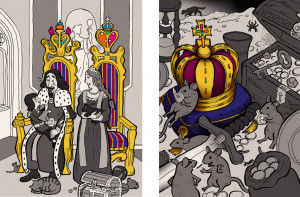 Throne Krone Minimalpaar