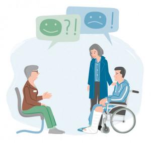 Zum Thema Patientenfürsprecherin, Beratungsgespräch