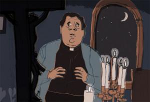 Pfarrer Braun hält Zwiesprache mit dem Herrn in: Der unsichtbare Beweis