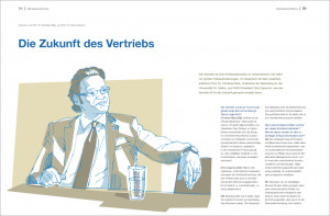 Illustrationen für das Magazin Quarterly der German Graduate School, Heilbronn