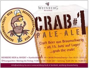 Crabbs-Bier Anzeige