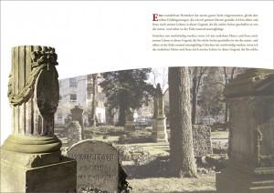 Layout für Broschüre über Friedhöfe