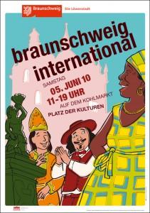 Plakat für ein Kulturfest, Illustration: Thomas Berendt • (Auftraggeber, Typografie, Design: KBI-Design, Braunschweig)