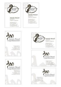 Diese Visitenkarten-Entwürfe wurden in FreeHand 10 erstellt
